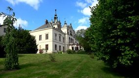 Palazzo Velke Brezno, Boemia, repubblica Ceca stock footage
