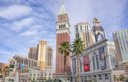 The Palazzo and The Venetian,Las Vegas Stock Images