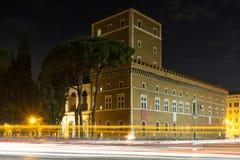 Palazzo Venezia at night Stock Photography