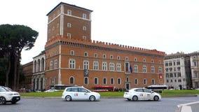 Palazzo Venezia in Piazza Venezia in Rome stock footage