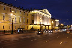 Palazzo vicino all'eremo, san Peterburg Fotografie Stock Libere da Diritti