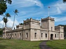 Palazzo vicino complesso storico di Iolani a Honolulu Fotografie Stock Libere da Diritti