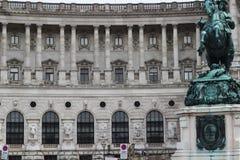 Palazzo Vienna Buliding storico di Hofburg Fotografia Stock Libera da Diritti