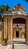 Palazzo Vilhena. Entrance in Mdina, Malta Royalty Free Stock Photography