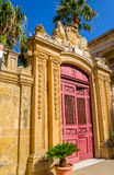 Palazzo Vilhena Entrance. Entrance of Palazzo Vilhena in Mdina, Malta Stock Images