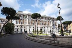 Palazzo Viminale es las jefaturas del ministerio italiano del interior en Roma Foto de archivo libre de regalías