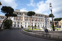Palazzo Viminale is the headquarters of the Italian Ministry of the Interior in Rome Royalty Free Stock Photo