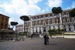 Palazzo Viminale jest kwaterami głównymi Włoski minister spraw wewnętrznych w Rzym Obrazy Stock