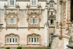 Palazzo WINDOWS di Bussaco Fotografia Stock