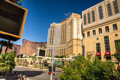 The Palazzo, Wynn Hotel and Casino view from Las Vegas boulevard Stock Photos