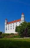 Palazzo (XVIII C.) del castello di Bratislava Fotografie Stock