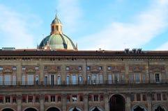 Palazzodei Banchi in Bologna, Italië, Januari 2017 stock afbeelding