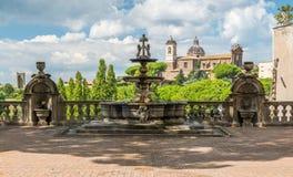 Palazzodei Priori, in Viterbo, Lazio, centraal Italië stock afbeelding