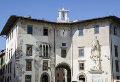 Palazzodell'orologio, Pisa Stock Afbeelding