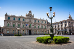 Palazzodell'universita, stadscentrum van Catanië, Sicilië Royalty-vrije Stock Afbeelding