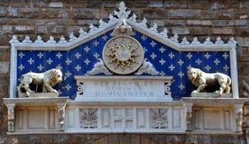 Palazzoen Vecchio är stadshuset av Florence, royaltyfria foton