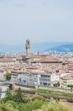 Palazzoen Vecchio, stadshuset av Florence, Italien Royaltyfri Foto