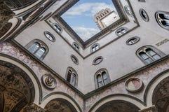 Palazzoen Vecchio, stadshuset av Florence, Italien Arkivbild