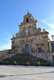 Palazzolo Acreide Cathedral - Province of Syracuse, Sicily Stock Photography
