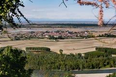 Palazzolo widzieć od above Zdjęcia Stock