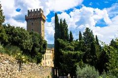 The Palazzone, elegant Renaissance villa in Cortona, Italy Royalty Free Stock Photo