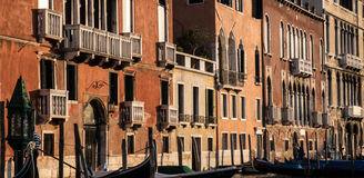 Palazzos στο μεγάλο κανάλι, Βενετία Στοκ φωτογραφία με δικαίωμα ελεύθερης χρήσης