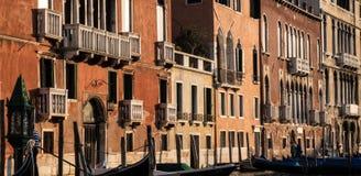 Palazzos na kanał grande, Wenecja Fotografia Royalty Free