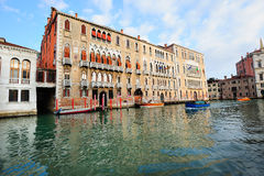 Palazzos (palaces) on Grand Canal in Venice Stock Photos