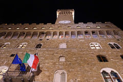 Palazzovecchio, torre da'arnolfo, Florence Stock Afbeelding