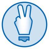 2 palców ikona dla ogólnospołecznej medialnej sieci Obraz Stock