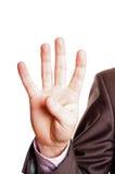 palca znak cztery Obraz Stock