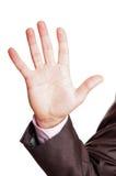 palca znak pięć Zdjęcie Royalty Free