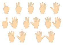 Palce ręki Liczyć, edukacja Set również zwrócić corel ilustracji wektora ilustracji