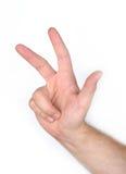 palce trzy fotografia stock