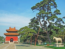 A palce in ZhaoLing Tomb Stock Photo