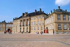 Palácio Copenhaga de Amalienborg Imagem de Stock