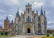 Palácio de Astorga Epsiscopal Foto de Stock Royalty Free