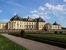 Palácio de Drottningholm em Éstocolmo, Suécia Foto de Stock Royalty Free