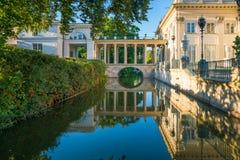 Palácio de Lazienki, Varsóvia, Polônia Fotografia de Stock