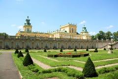 Palácio de Wilanow em Varsóvia, Poland Fotografia de Stock Royalty Free