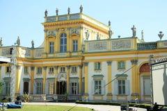 Palácio de Wilanow em Varsóvia, Poland Foto de Stock Royalty Free
