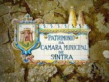 Palácio nacional de Sintra, Portugal Fotografia de Stock