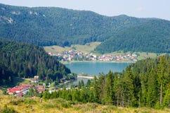 Palcmanska Masa sjö i slovakiskt paradis Royaltyfria Bilder