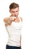 palcowego mężczyzna target2012_0_ Obrazy Stock
