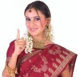 palcowy dziewczyny hindusa jeden pokazywać nastoletni Fotografia Royalty Free