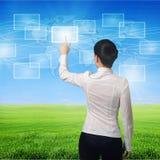 palcowy ikon Oman dosunięcie wirtualny Zdjęcie Stock