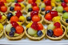 Palcowy jedzenie, deser i owoc koktajl, Zdjęcia Stock