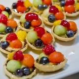 Palcowy jedzenie, deser i owoc koktajl, Obrazy Royalty Free