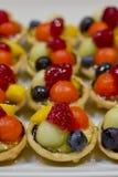 Palcowy jedzenie, deser i owoc koktajl, Zdjęcie Stock