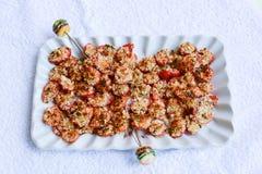 Palcowy jedzenie dla zdrowego jedzenia Zdjęcia Stock